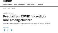 네이처, '아이들의 코로나 사망은 대단히 드물다'